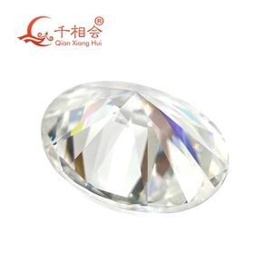 Image 2 - DF GH IJ color white oval shape dia mond cut Sic material moissanites loose gem stone qianxianghui