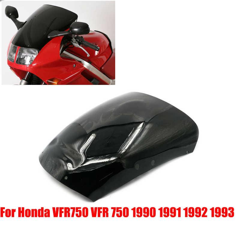 Alpha Rider Black Windscreen Windshield For Honda VFR750 1990-1993