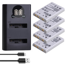 4 Pcs EN-EL5 ENEL5 Batterij & Led Dual Usb Lader Voor Nikon Coolpix P530 P520 P510 P100 P500 P5000 P5100 p6000 3700 4200 Camera.