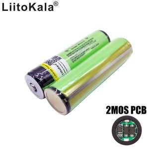 Image 1 - 8 pièces Liitokala nouveau protégé 18650 3400 mah batterie NCR18650B batterie rechargeable 3.7 V PCB achats gratuits