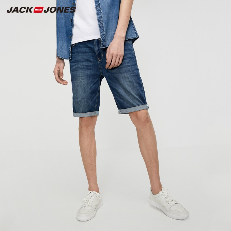 JackJones Men's Slim Fit Denim Shorts Summer Basic Menswear| 219243506