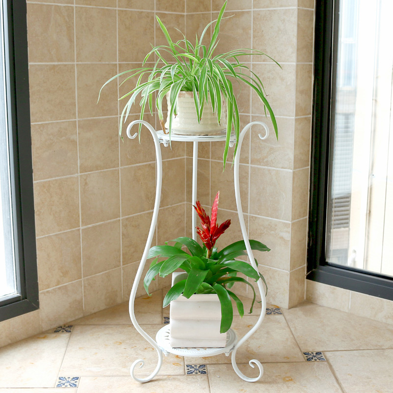 Indoor Flowerpot Frame A Living Room Shelf Multi-storey Landing Type Green Luo Chlorophytum Double-deck Balcony Flower Rack