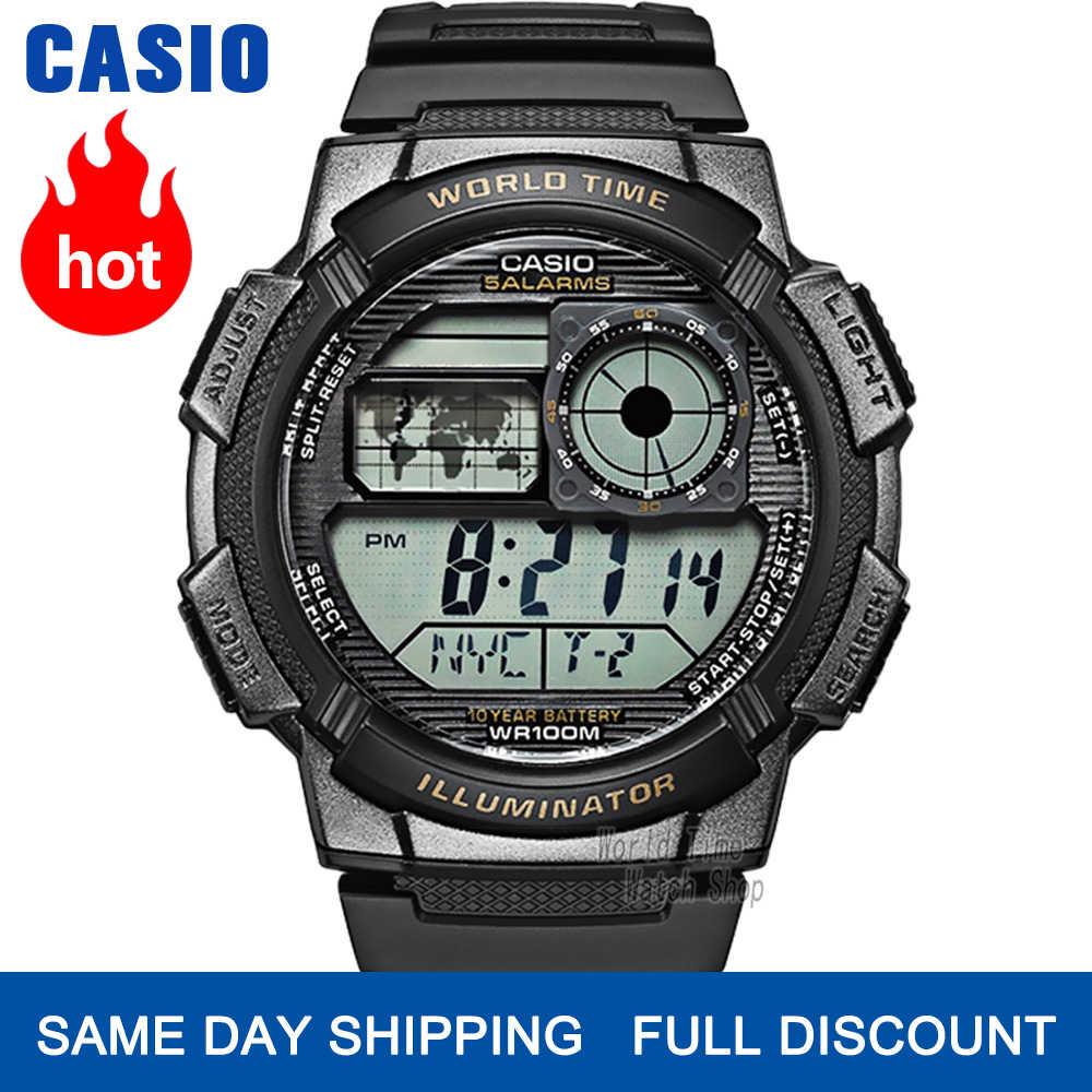 Casio นาฬิกา g ช็อก 10 ปีแบตเตอรี่นาฬิกาสปอร์ตผู้ชายหรูหราอัตโนมัติ LED ดิจิตอล 100 เมตรนาฬิกาข้อมือกันน้ำควอตซ์โครโนกราฟผู้ชายนาฬิกาทหารนาฬิกา divers นาฬิกาสำหรับผู้ชาย часы мужские relogio masculino reloj hombre