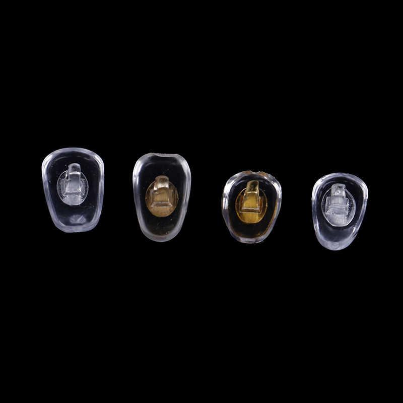 10 個 = 5 ペアシリコーンネジ鼻パッドサポートメガネサングラスサポート鼻パッド眼鏡アクセサリー s/L サイズ