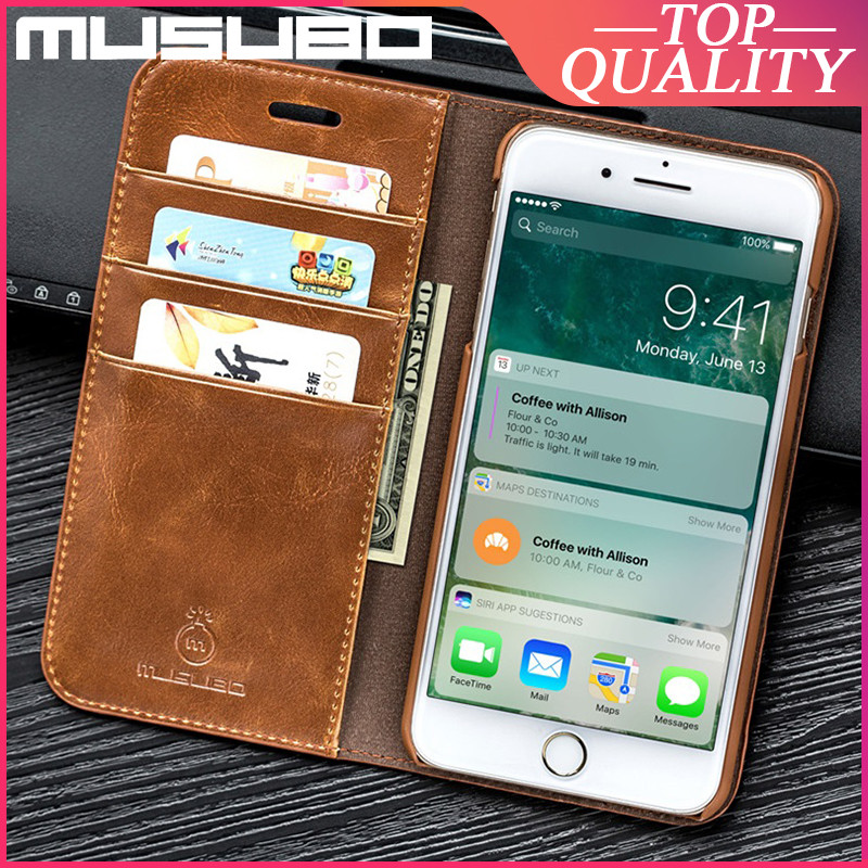 Musubo Genuine Leather Case For iPhone SE 2020 8 Plus 7 Plus 6 6s XR Xs Max Luxury Cover 12 Pro Max 11 Card Slot Wallet Fundas