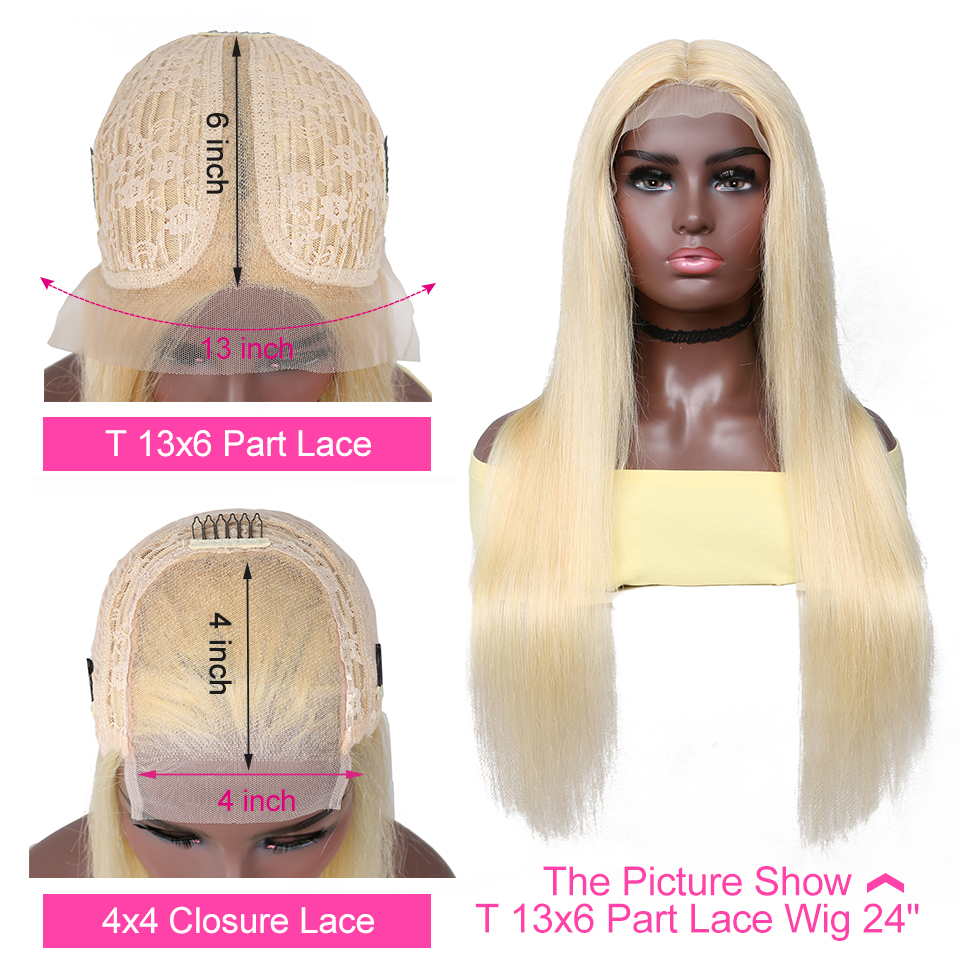 YYong 613 Blond 6x1 Topline Lace Part  Wigs Pre Plucked With Baby Hair Straight  HD Transparent Lace Wig 28 30inch 2