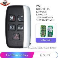 KEYECU 315/433MHz Smart Remote Car Key for Land Rover LR2 LR4 2012 2013 2014 2015 2016 2017,Range Rover Evoque /Sport KOBJTF10A