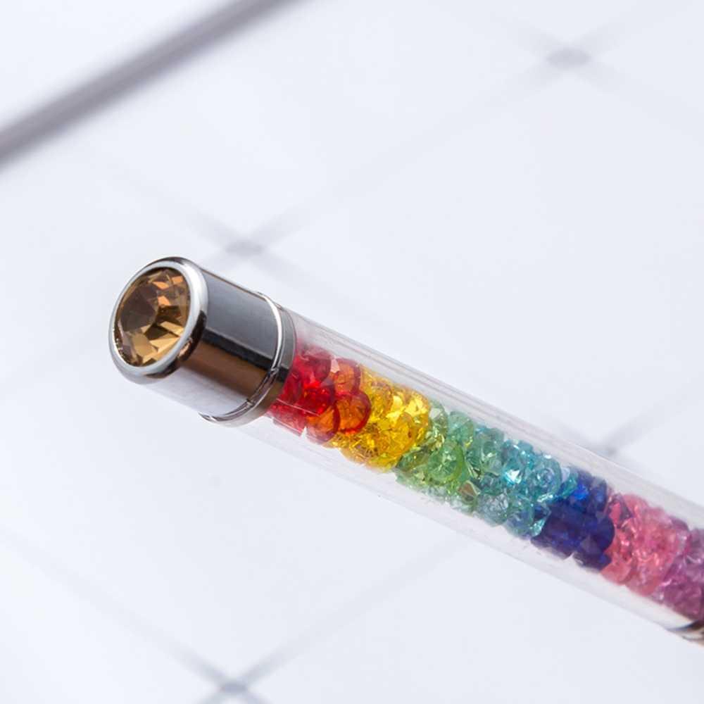 50pcs ส่วนบุคคลแกะสลักเพชร Rainbow ปากกาโลหะของขวัญงานแต่งงานธุรกิจตกแต่งฝักบัวเด็ก Baptism คริสต์มาสโลโก้