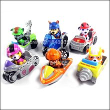 Pawed Dog Puppy Patrolling Car Patrulla Canina Action Figure Model Marshall Chase Ryder Vehicle Car Kids Boys Toy Gifts
