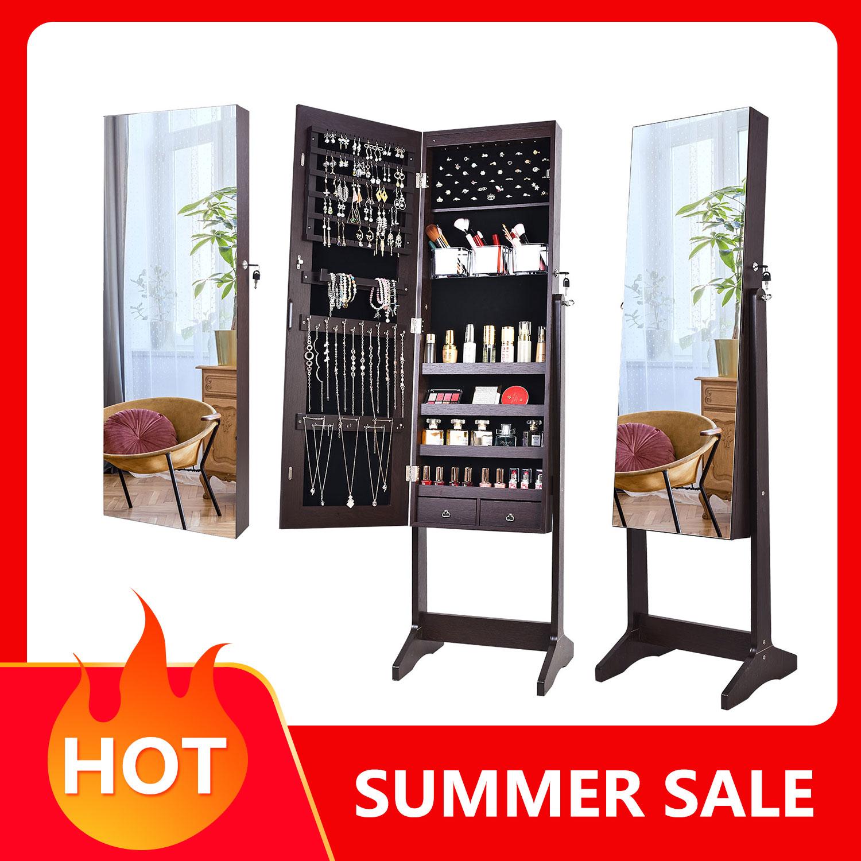 KingYee Bedroom furniture,Mirror cabinet,full-length mirror,jewelry cabinet, upright mirror,  lockable jewelry storage box