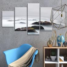 Пейзажная живопись для украшения дома горы в облаках регулируемые