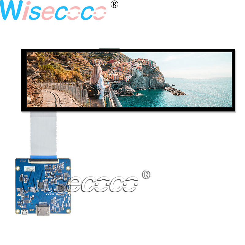 Raspberry Pi Wisecoco New 8.8 Inch LCD Display 1920×480 IPS Screen 40 pin with HDMI MIPI USB Driver Board for Automotive Display(China)