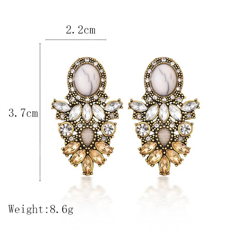 Vintage Statement Drop Earrings For Women 2020 New Bohemia Fashion Jewelry Korean Metal Geometric Golden Hanging Swing Earring