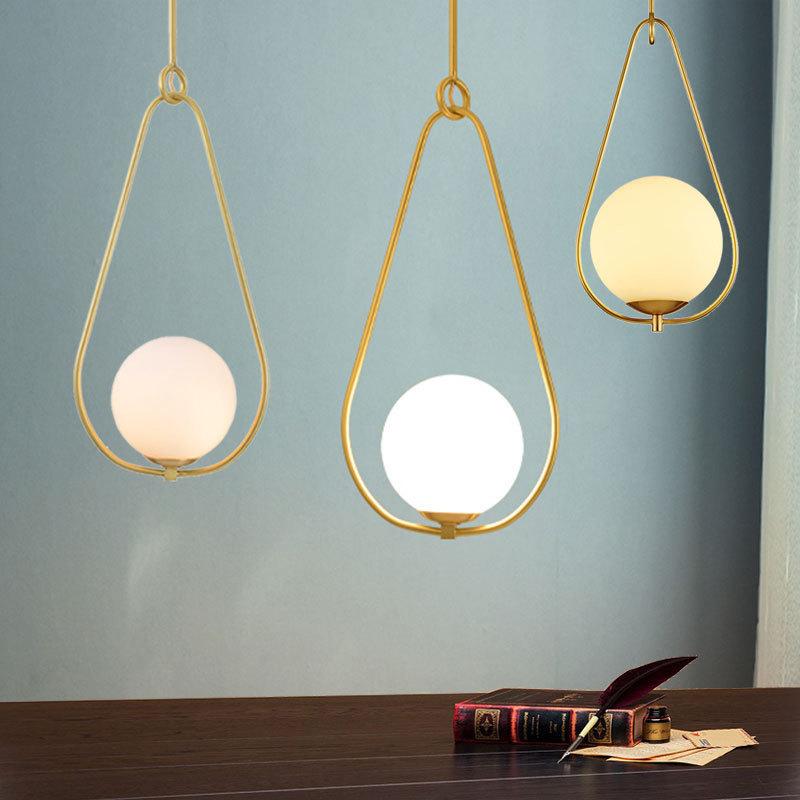 restaurant study balcony corridor drift window copper chandelier simple bedside clothes and hats room Chandelier