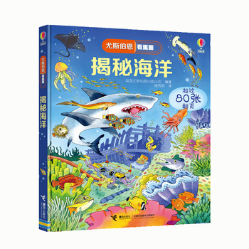 Britain English 3D Usborne see under the Sea flap book Education for Children With over 80 flaps to lift reading book gift
