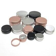 50 шт. 5g 10 г 1 5g 20 г 30 г 50 г 60 г алюминиевая банка металлические контейнеры контейнер для бальзама для губ пустые банки для свечей коробка для крема
