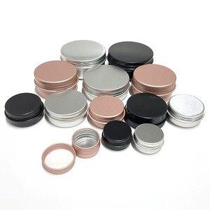 Image 1 - 50 pces 5g 10g 15g 20g 30g 50g 60g recipientes de alumínio do metal do frasco do bálsamo do bordo recipiente vazio vela frascos creme pote caixa