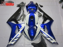 ABS Motorcycle Fairing Kit For Honda CBR1000RR 2006-2007 Injection Molding Fairings CBR 1000RR 06-07 Gloss Blue White Bodyworks цены