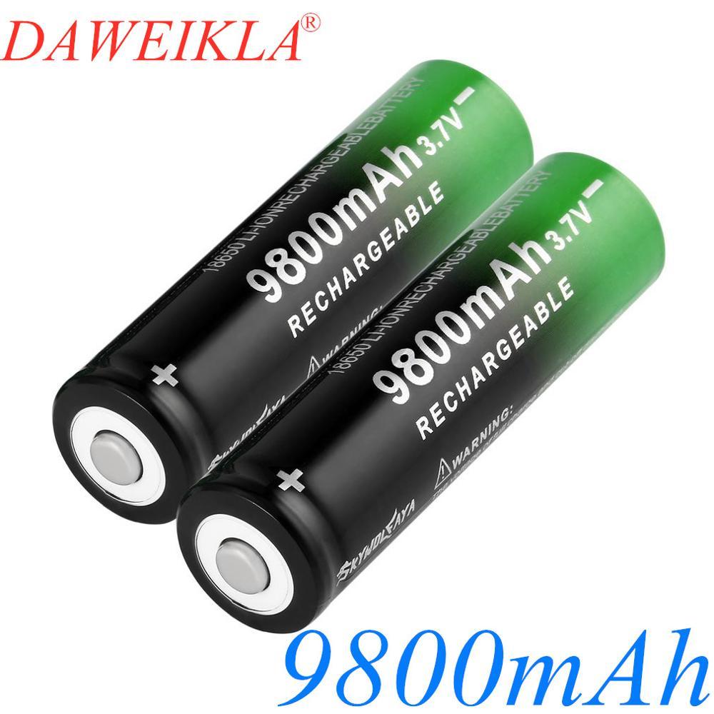 18650 3,7 в 9800 мАч новая литий-ионная батарея перезаряжаемые литий-ионные батареи для фонарика налобного фонаря электронная игрушка
