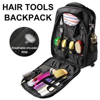 Bolsa de herramientas de peluquería accesorios para el cabello herramienta de almacenamiento de gran capacidad para cortar el pelo mochila de viaje al aire libre organizador de cosméticos