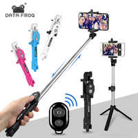 Bluetooth Selfie Stick Tripod/Hand-held Remote Control Rotating Selfie Stick For iPhone/Android Smartphone Mini Selfie Stick