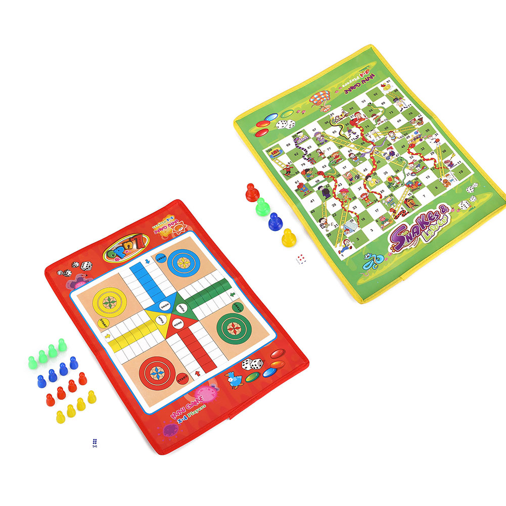Chess Ludo Folding Snake Chess Children Portable Puzzle Game Preschool Training Children Toy Entertainment Game
