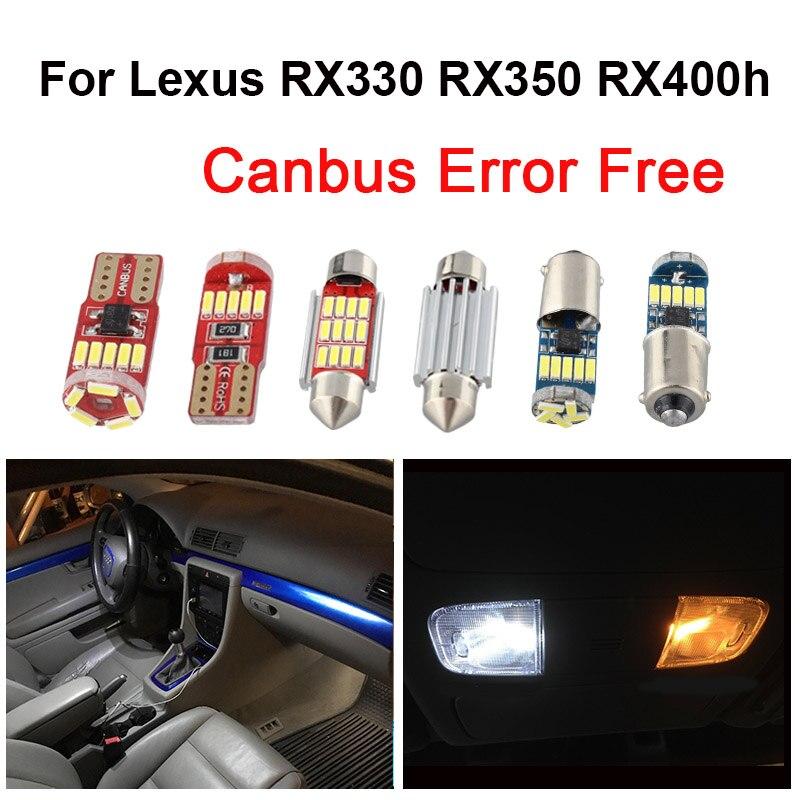 รถสีขาว CANbus หลอดไฟ LED อ่านหนังสือ Light สำหรับ Lexus RX330 RX350 RX400h RX450h 2004 2005 2006-2019 โดมหลอดไฟ