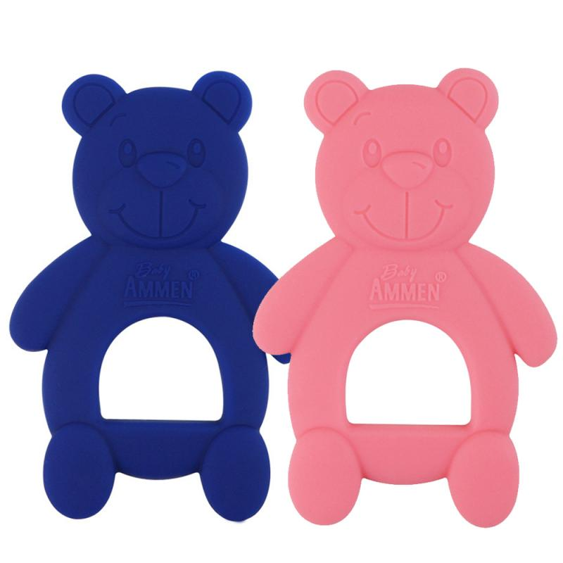 Bear Baby Teether Silicone Teeth Training Tool Kids Dental Oral Care Tool Infant Teething Chew Molar Toy Baby Pacifier Care