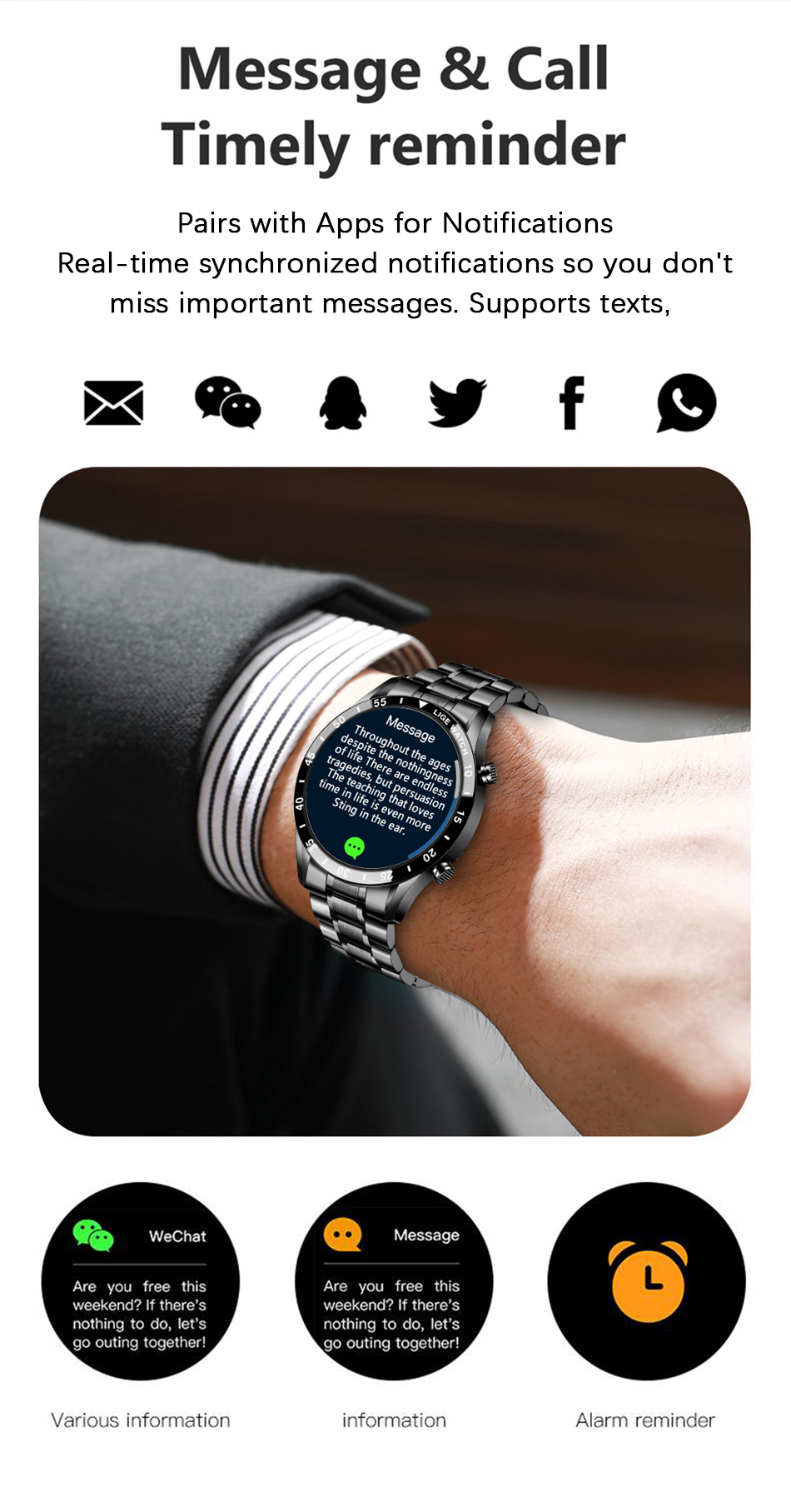 H3032ab1fb7f34f1da380b9a23b0346b0B LIGE New Men Smart watch Heart rate Blood pressure IP68 waterproof sports Fitness watch Luxury Smart watch male for iOS Android