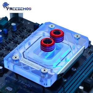 Блок водяного кулера FREEZEMOD, 6 мм, нижняя пластина для процессора AMD AM2 AM3 AM4, большая площадь, Алмазный Узор, Водяной охладитель RGB