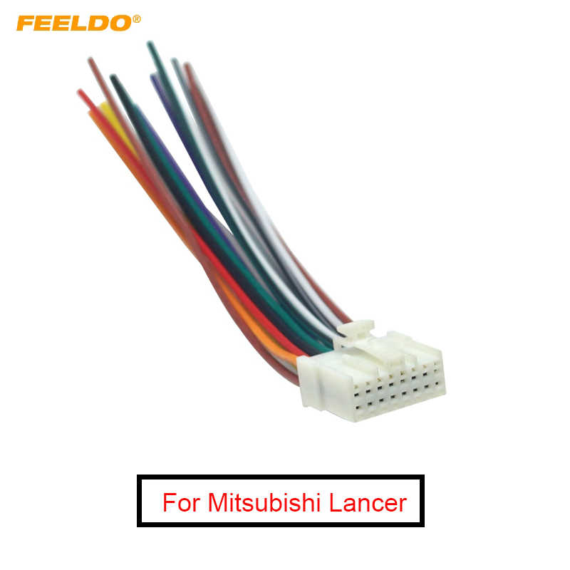 FEELDO Car Stereo Radio 16Pin Wire Harness For Mitsubishi Lancer/Ford  Relevant Installing Audio Wiring Cable #AM5714    - AliExpresswww.aliexpress.com