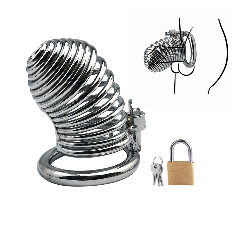 3 Rings Choose Metal Bird Cock Cages Chastity Devices  BDSM Bondage Restraint Penis Ring Lock Male Sex Toys For Man