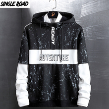 SingleRoad Mens Hoodies 남성 여성 가을 카모 운동복 남성 힙합 하라주쿠 Japanese Streetwear Black Hoodie Sweatshirts 남성