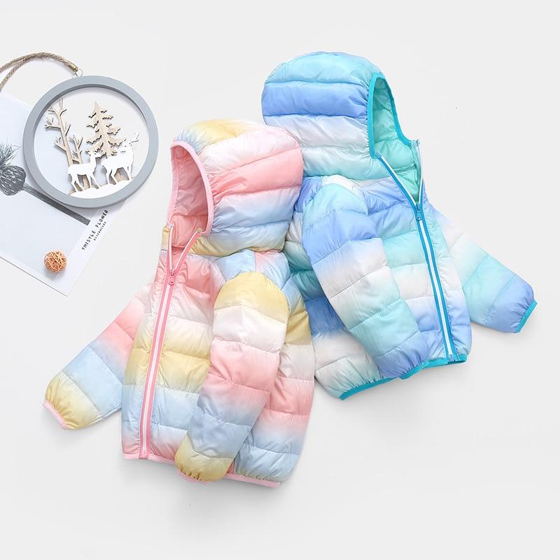 Girl Jacket Hooded Zipper Baby Winter Children Warm Fashion with Coat Long-Sleeve Shiny