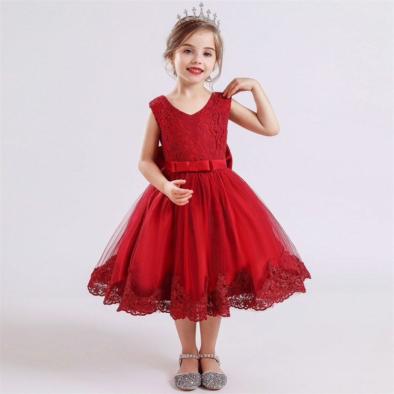 Kids Dress for Girls Summer Dresses for Party and Wedding Christmas Clothing Princess Flower Tutu Dress Children Prom Ball Gown 3