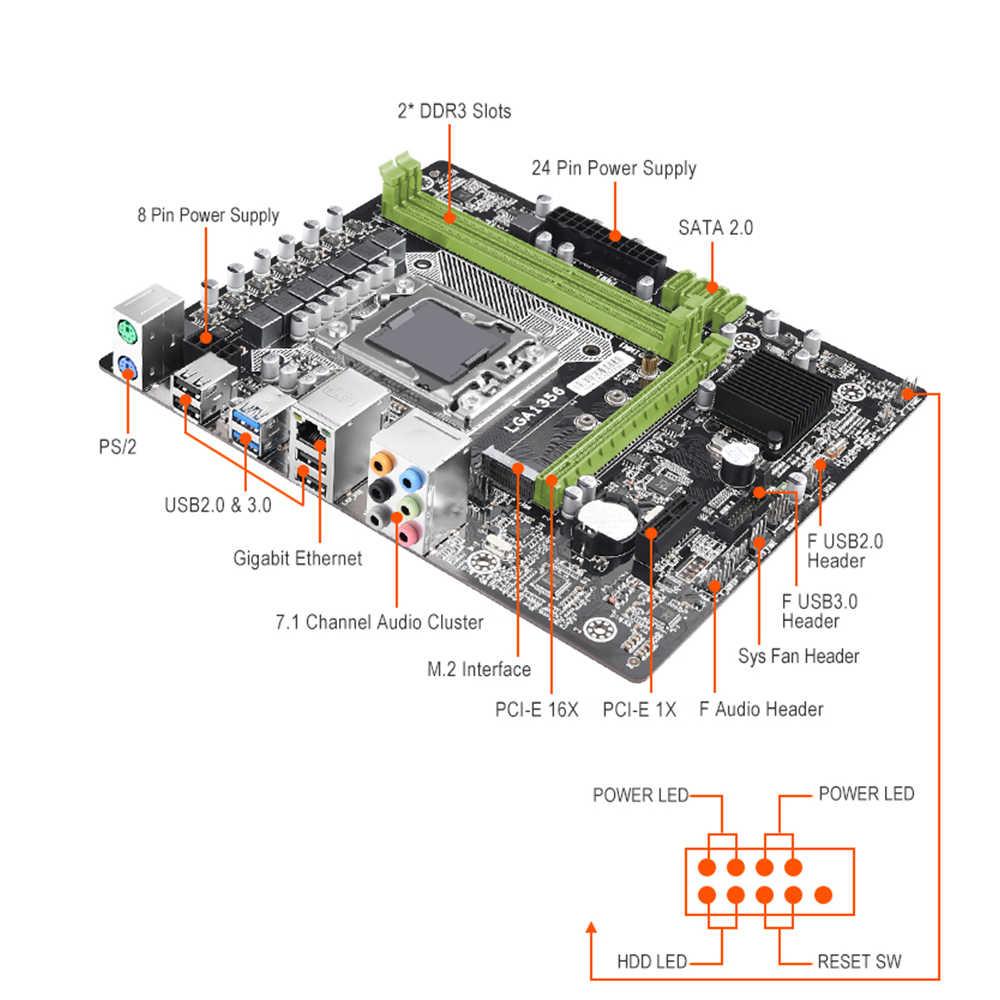 X79 x9a LGA1356 материнская плата m.2 sata usb 3,0 поддерживает серверную память REG ECC и процессор xeon E5 прочнее, чем x9a lga1356