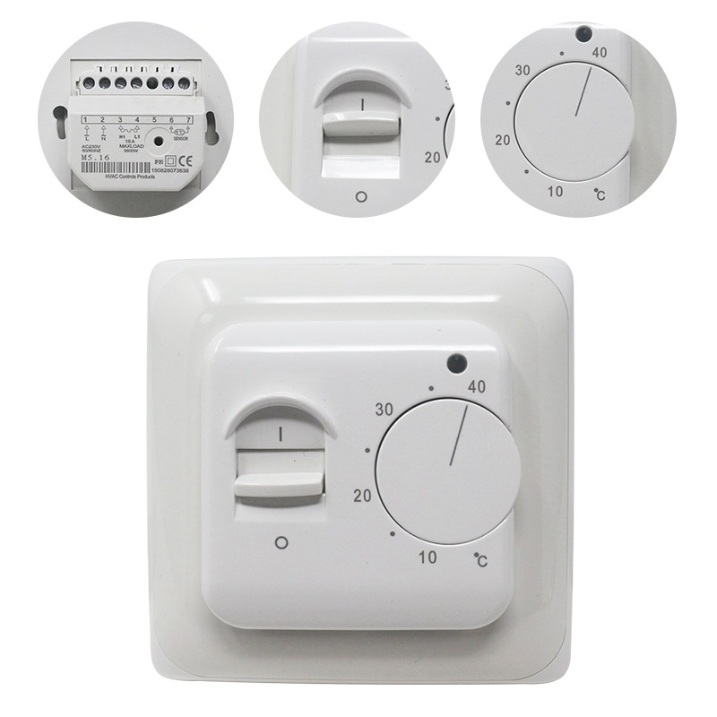 Electric Floor Heating Room Thermostat Manual Warm Floor Cable Use Termostat 220V 16A Temperature Controller Instrument