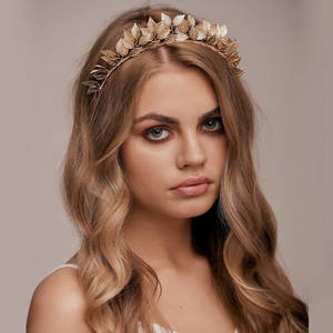 New Trendy Gold Silver Stars Crown Headband Rhinestone Tiara Bride Headpiece Wedding Hair Accessories Princess Headdress