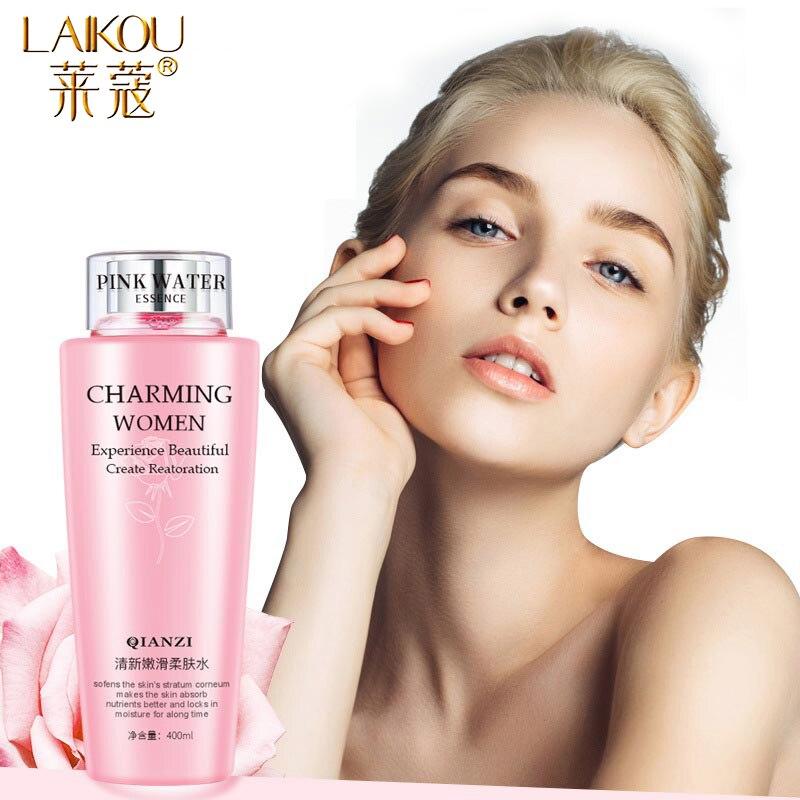 LAIKOU Rose Facial Toner Moisturizing Hydration Anti-Aging Oil Control Shrink Pores  Makeup Water Face Toner Skin Care 400ml