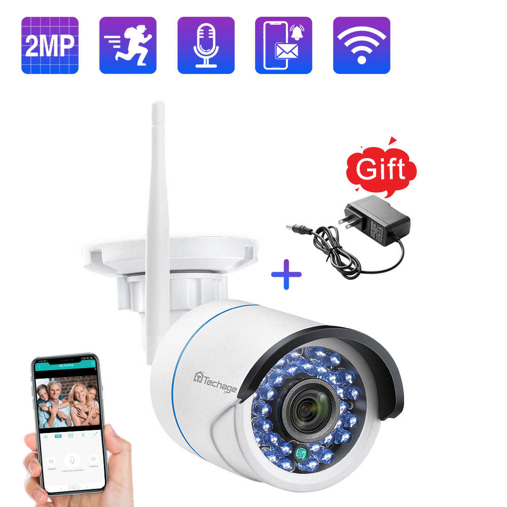 Techage Wifi Camera Draadloze Ip Cctv Camera 1080P Nachtzicht Video Audio Geluid Sd-kaart Opnemen Beveiliging Cctv Surveillance icsee