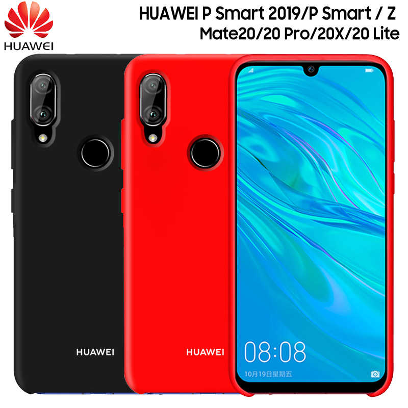 HUAWEI P Smart 2019 Case New Liquid Silicone Soft Protection Back Cover HUAWEI Mate 20 Lite Pro 20 X 20X P Smart Z Case Fundas