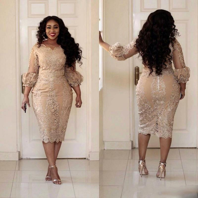 short-champagne-lace-plus-size-mother-of-the-bride-dresses-long-puff-sleeve-sheath-tea-length-women-formal-party-gowns-custom-size