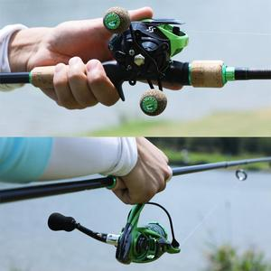 Image 5 - Sougayilang novo 3 seções portátil vara de pesca 1.8 2.4m carbono ultraleve fiação/fundição vara de pesca eva lidar com enfrentar