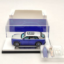 Time Model 1:64 For Rls~Rce SUV CULLINAN Mansory Blue w/Figure Diecast Model Car
