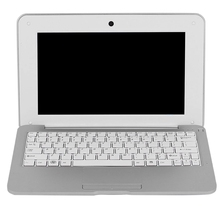 HD Portable 10.1Inch Quad Core Android System Without Optical Drive Mini Silver Gray Laptop Netbook(US Plug)