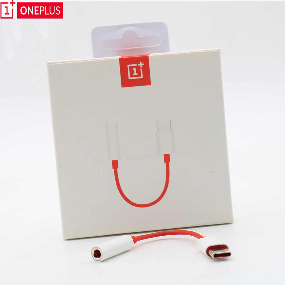 Original Oneplus Earphone Jack Adapter Type-C To 3.5mm Headphone Converter Cable For One plus 1+6T 7 7Pro 7T
