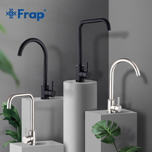 Faucets Paint Kitchen-Sink-Faucet Hot-Water-Mixer Frap Stainless-Steel Black Spray Single-Handle