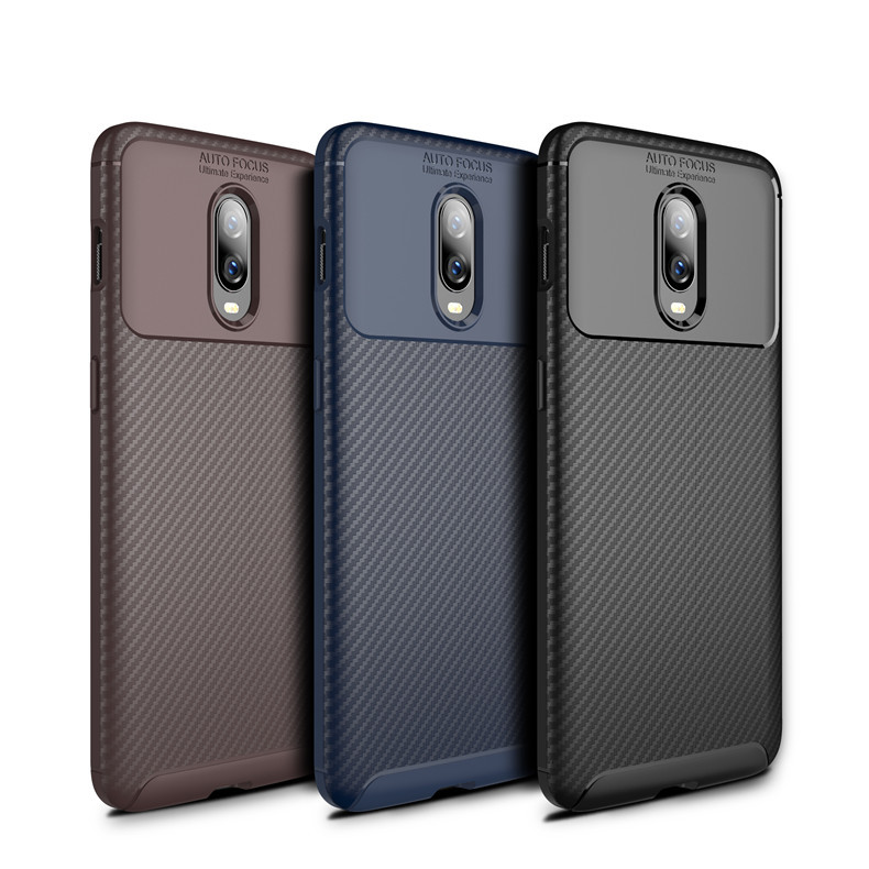 Vintage Carbon Fiber <font><b>Case</b></font> For <font><b>Oneplus</b></font> 8 8 Pro 7T Pro <font><b>6T</b></font> 7T Protective Anti-Knock Phone <font><b>Case</b></font> For <font><b>Oneplus</b></font> 6 <font><b>6T</b></font> image