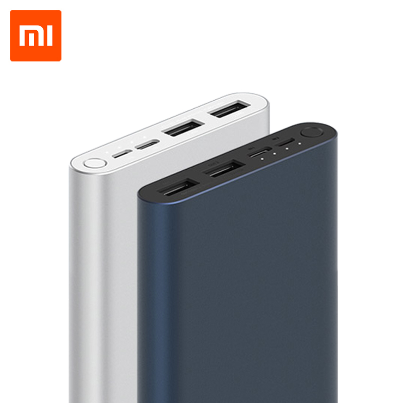 Original Xiaomi Mi Power Bank 3 10000mAh USB Type C Two-Way 18W Quick Charging Powerbank External Battery Pack Portable Charger