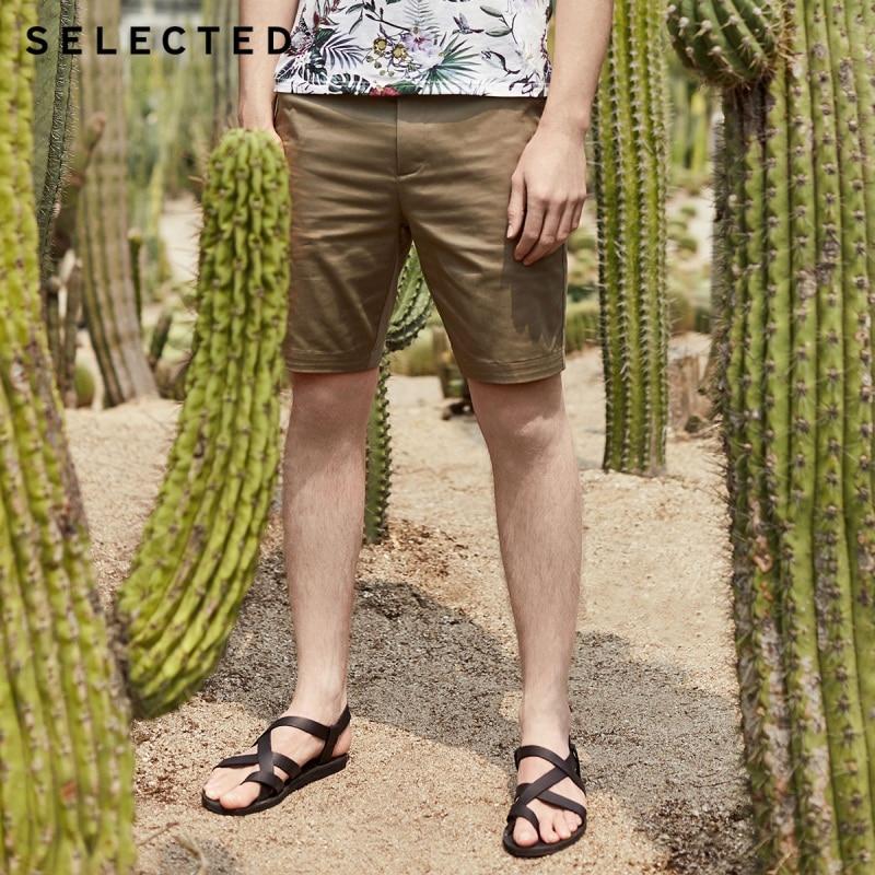 SELECTED Men's Summer Slim Fit Knee-length Shorts S|4192SH535